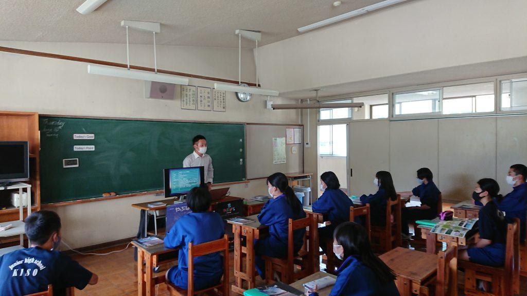 木祖中学校にお邪魔しました